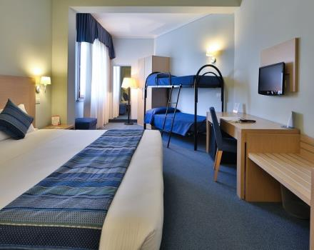 Spacious, bright and fully equipped with all amenities, the 65 rooms at Best Western hotel Cristallo in Mantova, Lombardy, are ideal for families traveling